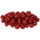 Vickerman L132203 20-25-30MM Red Glitt Ball 72/Bag
