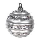 Vickerman M132007 6'' Silver Candy Glitter Wave Ball