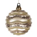Vickerman M132038 6'' Champagne Candy Glitter Wave Ball