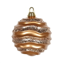 Vickerman M132058 6'' Rose Gold Candy Glitter Wave Ball