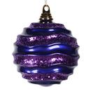 Vickerman M132066 6'' Purple Candy Glitter Wave Ball