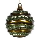 Vickerman M1320OL 6'' Olive Candy Glitter Wave Ball