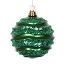 Vickerman M132104 8'' Green Candy Glitter Wave Ball