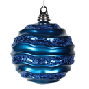 Vickerman M132162 8'' Sea Blue Candy Glitter Wave Ball