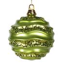 Vickerman M1321LM 8'' Lime Candy Glitter Wave Ball