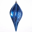 Vickerman M132562 8'' Sea Blue Candy Glitter Swirl Drop