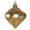 Vickerman M133208 6'' Gold Candy Glitter Swirl Diamond