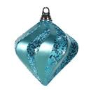 Vickerman M133212 6'' Turquoise Candy Glitt Swirl Diamond