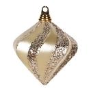 Vickerman M133238 6'' Champagne Candy Glit Swirl Diamond
