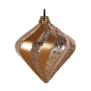 Vickerman M133248 6'' Sand Gold Candy Glittr Swirl Diamond