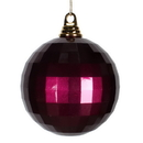 Vickerman M133756 5.5'' Eggplant Candy Mirror Ball 1/Bag