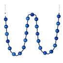 Vickerman M183502 6' Blue Stripe Ball Ornament Garland