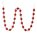 Vickerman M183503 6' Red Stripe Ball Ornament Garland