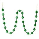 Vickerman M183504 6' Green Stripe Ball Ornament Garland
