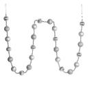 Vickerman M183507 6' Silver Stripe Ball Ornament Garland