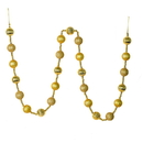 Vickerman M183508 6' Gold Stripe Ball Ornament Garland