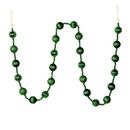 Vickerman M183524 6' Emerald Stripe Ball Ornament Garland