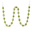 Vickerman M183554 6' Celadon Stripe Ball Ornament Garland