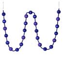 Vickerman M183566 6' Purple Stripe Ball Ornament Garland