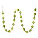 Vickerman M183573 6' Lime Stripe Ball Ornament Garland