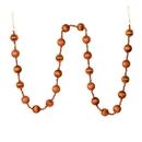 Vickerman M183588 6' Copper Stripe Ball Ornament Garland