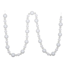 Vickerman N181711 9' White Assorted Ball Garland