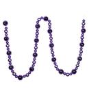 Vickerman N181786 9' Lavender Assorted Ball Garland