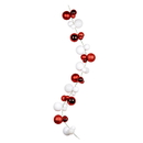 Vickerman N181893 6' Red/White Assorted Ball Garland