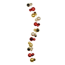 Vickerman N181895 6' Red/Gold/Champagne Asst Ball Garland