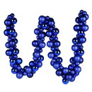 Vickerman N191202 6' Blue Asst Orn Ball Garland