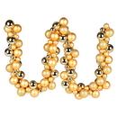 Vickerman N191208 6' Gold Asst Orn Ball Garland