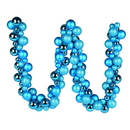 Vickerman N191212 6' Turquoise Asst Orn Ball Garland
