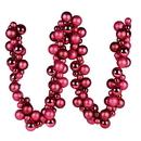 Vickerman N191221 6' Berry Red Asst Orn Ball Garland