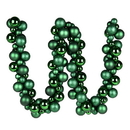 Vickerman N191224 6' Emerald Asst Orn Ball Garland