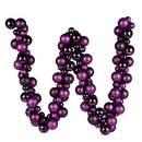 Vickerman N191226 6' Plum Asst Orn Ball Garland