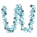 Vickerman N191232 6' Baby Blue Asst Orn Ball Garland