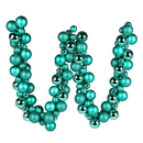 Vickerman N191242 6' Teal Asst Orn Ball Garland