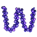 Vickerman N191266 6' Purple Asst Orn Ball Garland