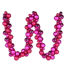 Vickerman N191270 6' Fuchsia Asst Orn Ball Garland