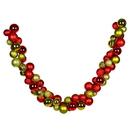 Vickerman N200806 7' Red-Lime Asst Ornament Garland