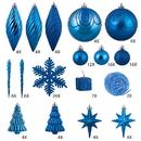 Vickerman N512502 125Pc Lavish Blue Ornament Set