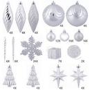 Vickerman N512507 125Pc Silver Ornament Set
