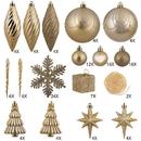 Vickerman N512508 125Pc Gold Ornament Set