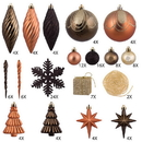 Vickerman N512515 125Pc Mocha Ornament Set