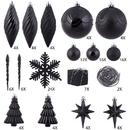Vickerman N512517 125Pc Black Ornament Set
