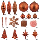 Vickerman N512518 125Pc Burnish Orange Ornament Set