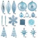 Vickerman N512532 125Pc Baby Blue Ornament Set