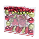 Vickerman N512543 125Pc Red/Kiwi Ornament Set