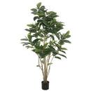 Vickerman TB170760 5' Potted Rubber Treew/132 Lvs-Green