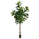 Vickerman TB180296 8' Potted Fiddle Tree 114Lvs